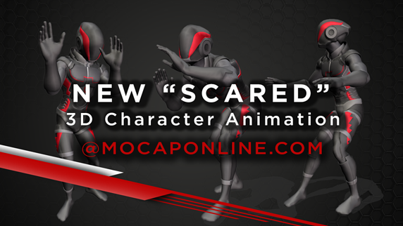 NEW SCARED 3D CHARACTER ANIMATIONS FOR GAME DEVELOPMENT 3D PRODUCTION Blog Header