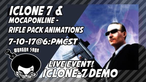 THE LIVE SHOW  7-10-17  ICLONE 7 FUN Blog Header