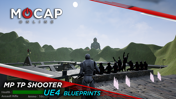 UE4 Multiplayer Third Person Shooter Blueprints - FREE Playable Demo Blog Header