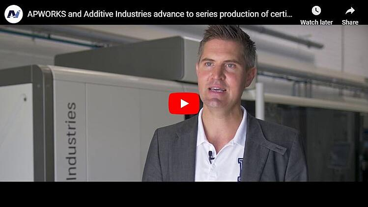 APWORKS and Additive Industries advance to series production of certified parts