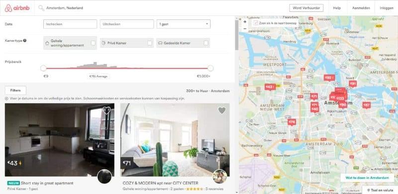 Aanpak airbnb door gemeenten