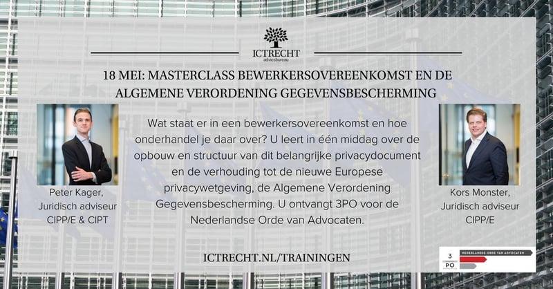 Nog maar twee weken tot Masterclass de Bewerkersovereenkomst en de AVG!