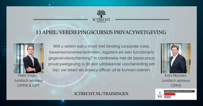 Verdiepingscursus privacywetgeving 6PO