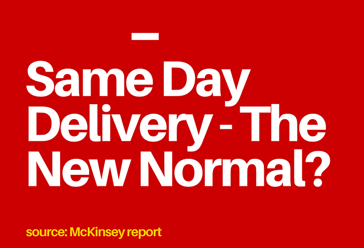 Same Day Delivery – The New Normal?