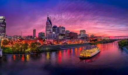 Nashville Dusk Skyline