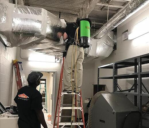 SERVPRO of Brickell Technician Duct Cleaning Image