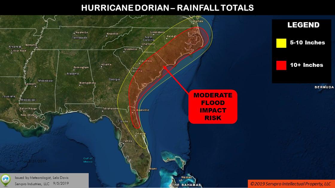 dorian 9-5 rainfall