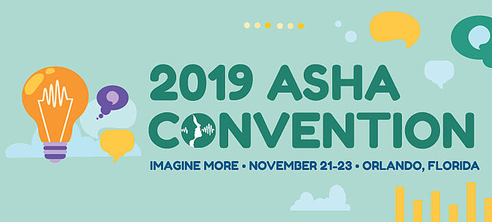 IVS will be at the 2019 ASHA Convention in Orlando, FL (November 21 – 23)