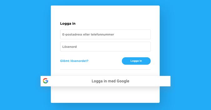 Logga in i Flow med Google