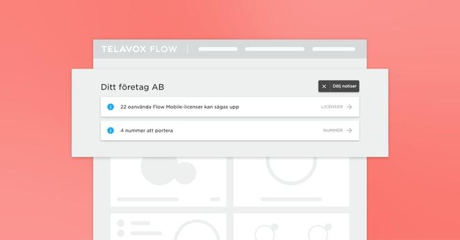 Koll på läget med notiser i Telavox Flow Admin
