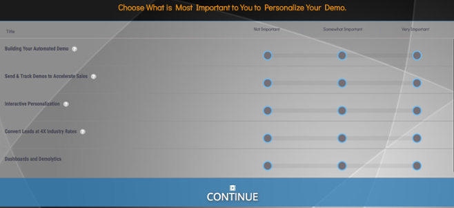Personalize demos for individual buyers