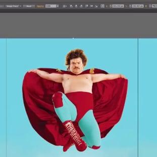 Adobe Illustrator Editing Nacho Libre Image for VideoScribe