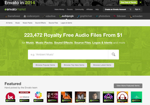 audiojungle music audio layout