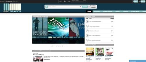 bedtracks audio music website