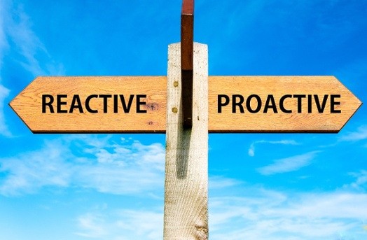 Successful sellers know when to be proactive or reactive