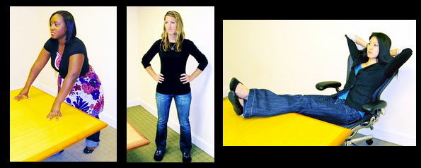 Body language: high power positions make people appear larger than normal.