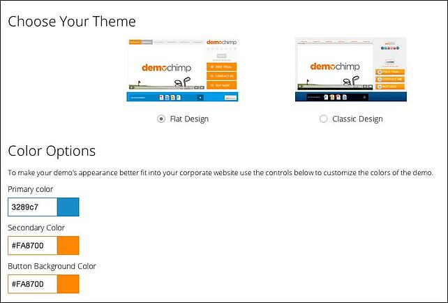 Flat design option in Choose Your Theme