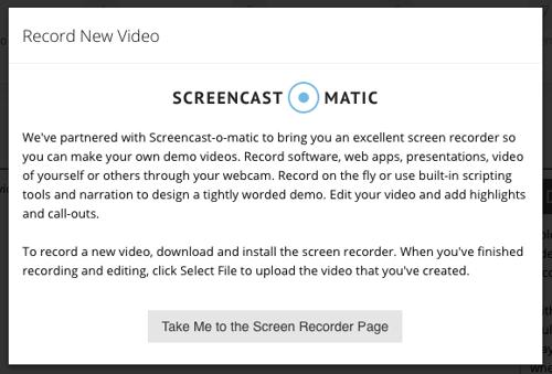 screencastomatic record demo integration consensus
