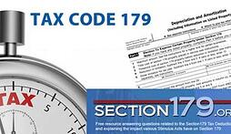 Tax Code Section 179 is use it or lose it!