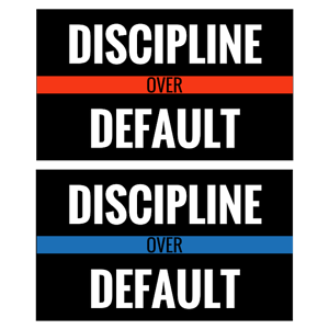 Discipline over default sticker