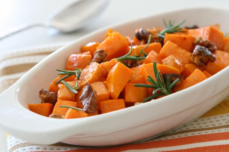 Chef Dylan's Maple Glazed Sweet Potatoes