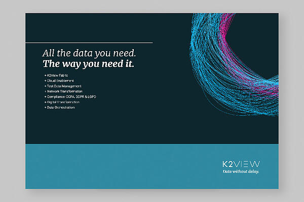 All the data you need. The way you need it. | K2View White Paper