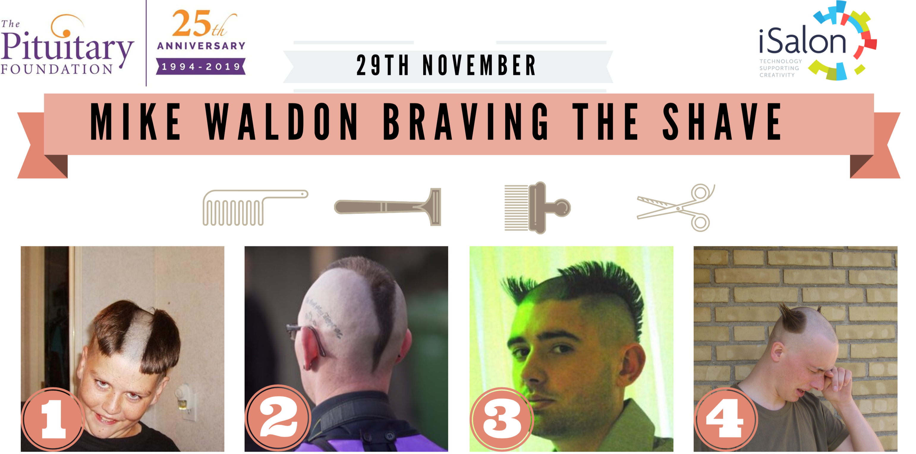 Mike Waldon is braving the shave