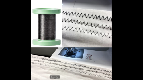 Carbon Nanotube Yarn + Sewing Machine