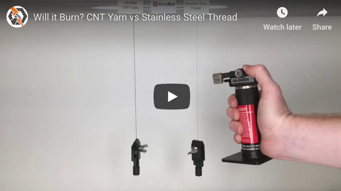 Will it Burn? CNT Yarn vs Stainless Steel Thread
