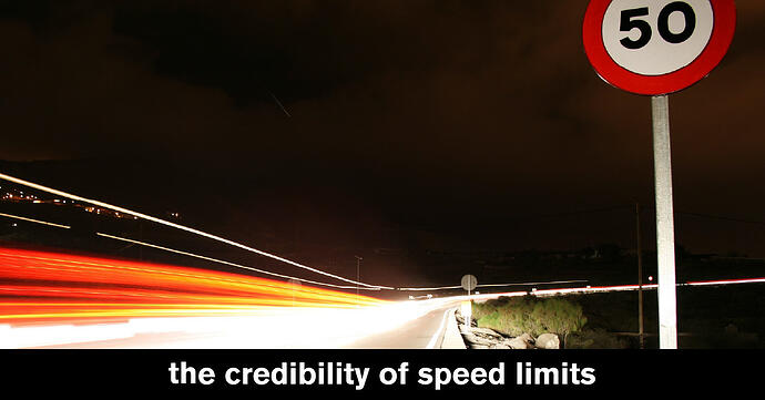 Are posted speed limits sometimes plainly wrong?