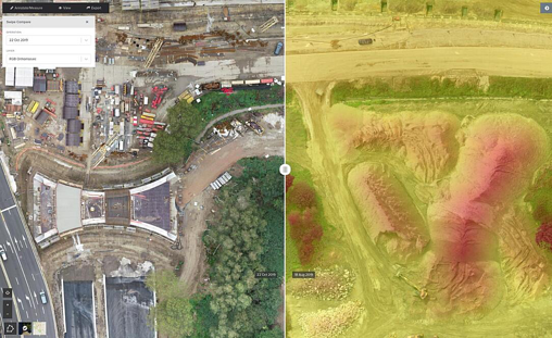Aerial Data Analysis Features for the Construction Industry
