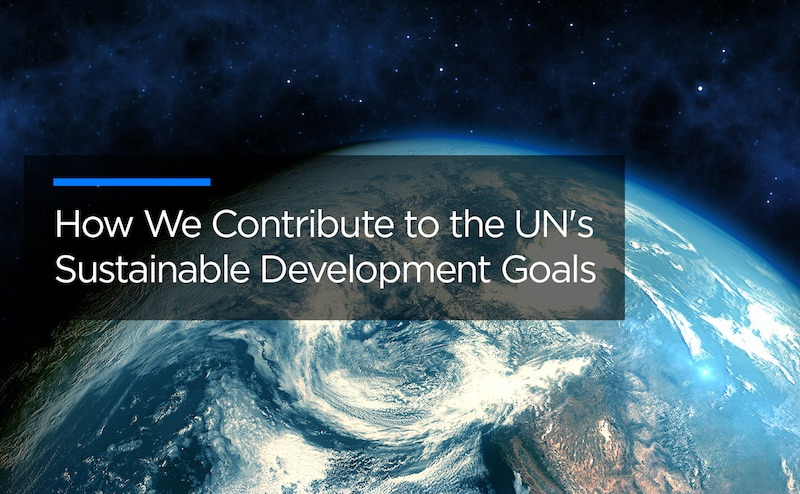 How we contribute to the UN's Sustainable Development Goals