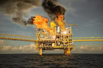 Oil Rix Explosion