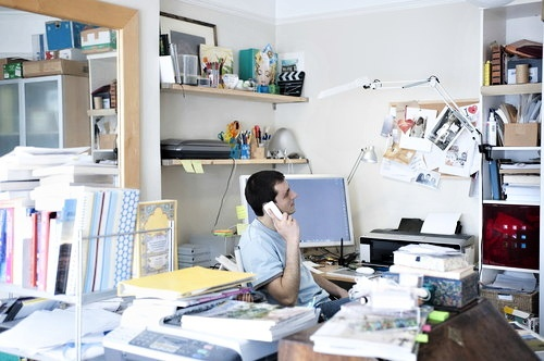Cluttered Office