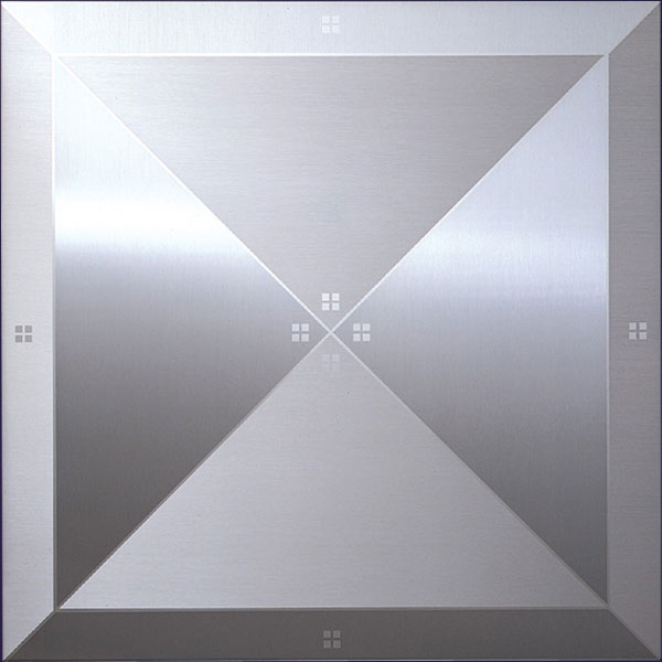Brushed Aluminum Ceiling Tiles. The ... - Ceiling Tile Design Gallery