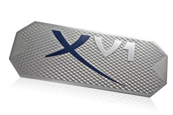 XV1 dimensional nameplate