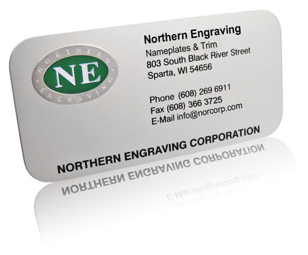 Northern Engraving contact card