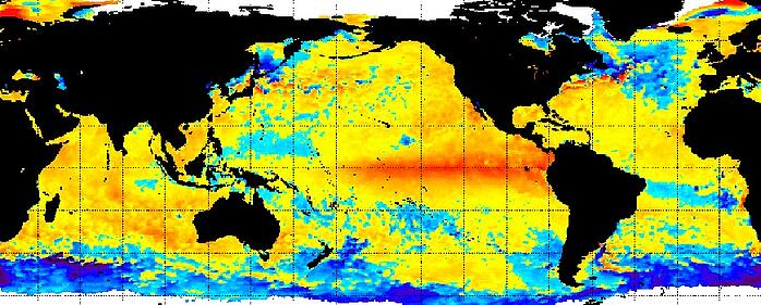 Sea surface temperature anomalies on Nov. 12, 2015. Image: NOAA