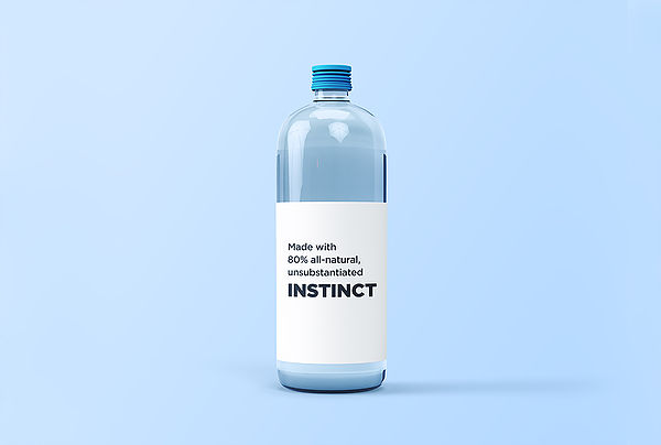 Glass Water Bottle Mockup LISTING