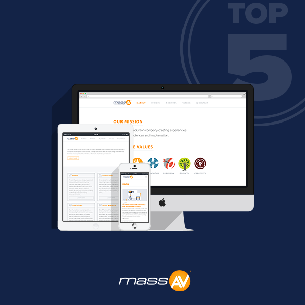 The Top Five Reasons to Visit Our New Website