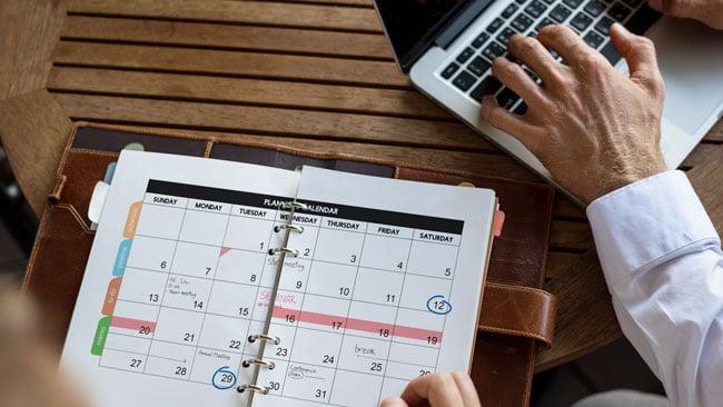 website-schedule