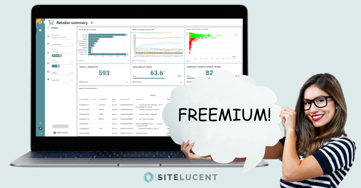 Free eCommerce tool | Monitor your brand with Sitelucent