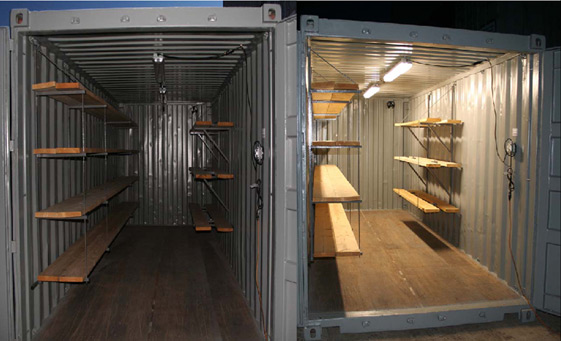 storage containers with quicklites inside