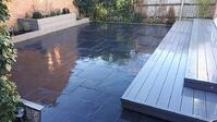 Black Limestone Paving Slabs by James Chatwin Landscapes