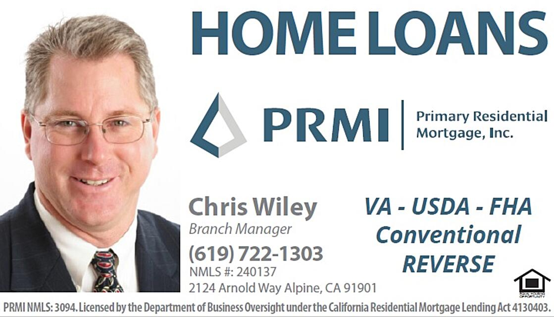 Homeloands PRMI | Primary Residential Mortgage, Inc. | Chris Wiley Branch Manager