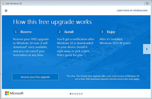 Windows 10 – new offerings and dangers of registering for automatic upgrade on 29th July