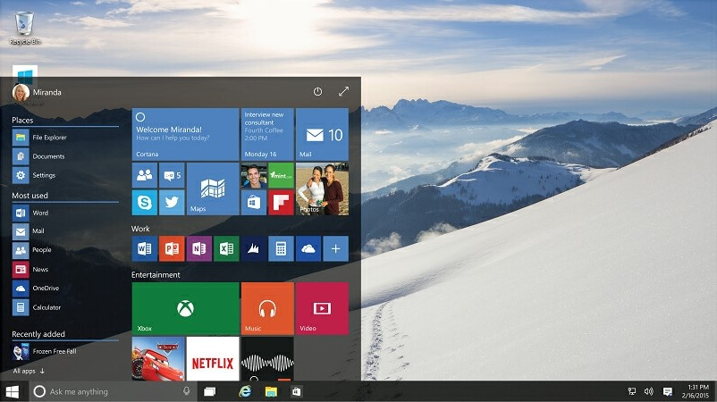 Windows 10 - Specification, Date and Pricing Information Announced