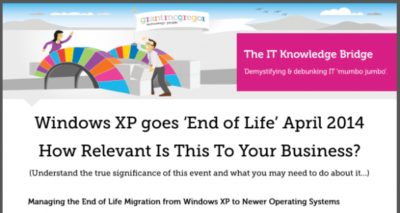 What's the impact to you of Windows XP going end of life in April 2014?