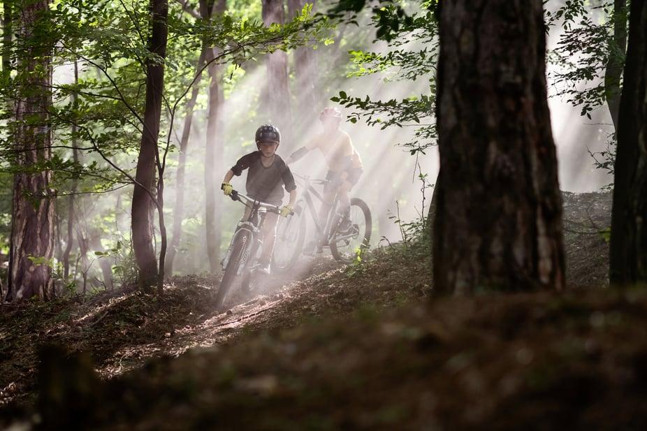 woom OFF im Wald