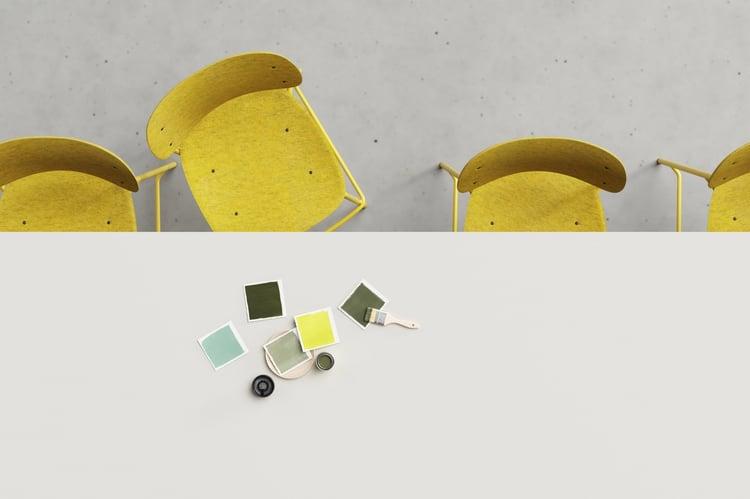 hale series pet felt chairs de vorm